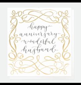 Caroline Gardner Card-Happy Anniversary Wonderful Husband