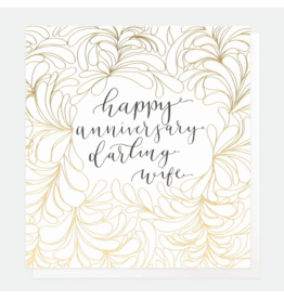 Caroline Gardner Card-Happy Anniversary Darling Wife