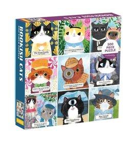 Galison Puzzle- Bookish Cats 500 Piece