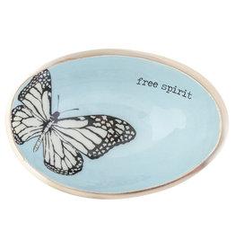 Karma Enamel Trinket Bowl Butterfly