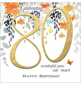 Abacus Card Ltd. Card-Celebrating 80 Wonderful Years