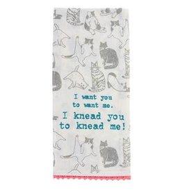 Karma Tea Towel-Cats Knead Me