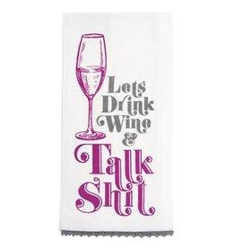 Karma Tea Towel-Let's Drink Wine