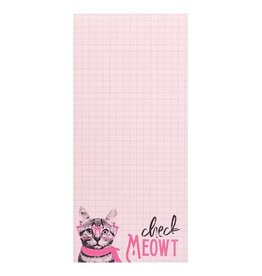 Wit Magnetic Notepad-Check Meowt