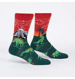 Sock it to me Men's Crew - DInosaur Days (Glow)