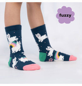 Sock it to me Junior Crew- Llam-where over the rainbow (fuzzy)