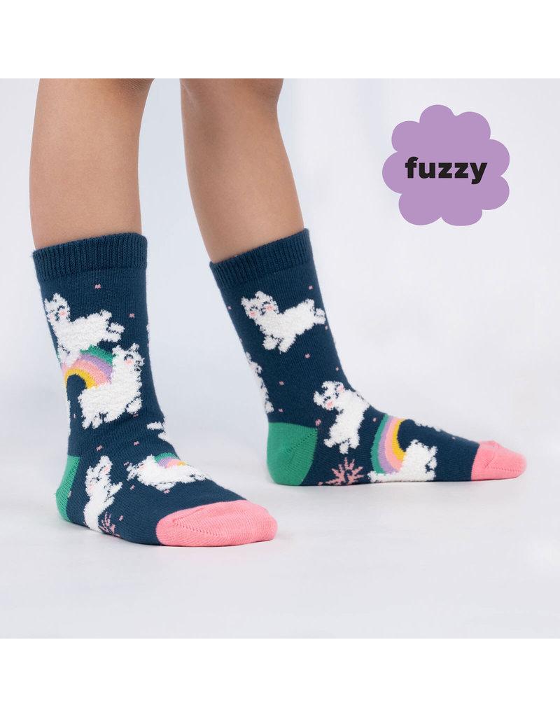 Sock it to me Junior Crew- Llam-where over the rainbow (fuzzy)