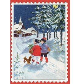 Roger La Borde Christmas Children 5 Card Pack