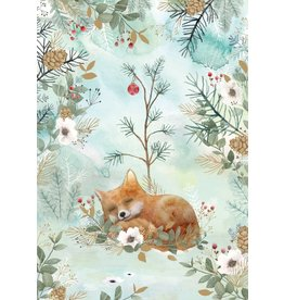 Roger La Borde Card- Sleepy Fox