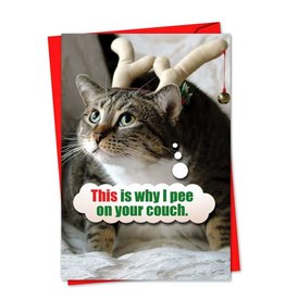 Noble Works Card Xmas-Why I Pee on Your Couch