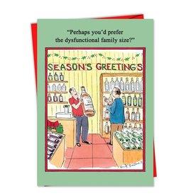 Noble Works Card Xmas- Dysfunctional Family