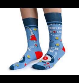 Uptown Sox LTD Men's Socks-Curling Rocks