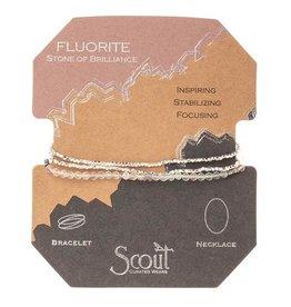 Scout Delicate Stone Necklace/Bracelet -Fluorite/Silver