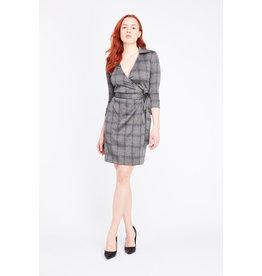 Misstery Baldwin- Wrap Dress With Collar