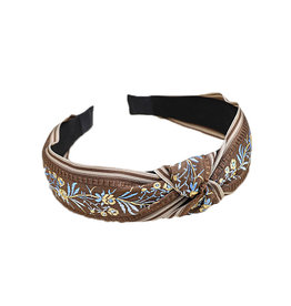 E&S Accessories Embroidered Floral Headband (More Colours)