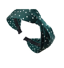 E&S Accessories Criss Cross Polka Dot Knotted Headband