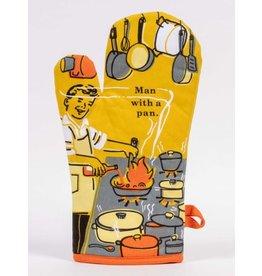 Blue Q Oven Mitt- Man With A Pan
