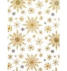 Love Vivid Xmas Roll Wrap-Snowflake White (Cotton)