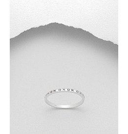 Sterling Ring- XOXO Ring