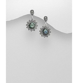 Sterling Marcasite W/Abalone