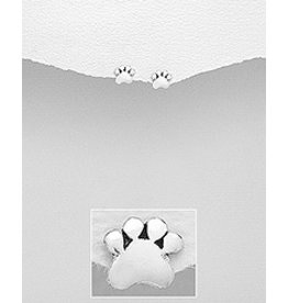 Sterling Studs- Paws