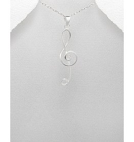 Sterling Necklace- Treble Clef