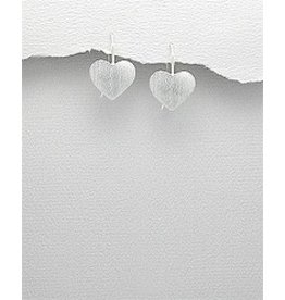 Sterling Earrings- Brushed Hearts