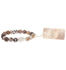 Scout Pearl and Gemstone Bracelet Mauve Agate