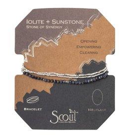 Scout Delicate Stone Necklace/Bracelet -iolite/sunstone/silver