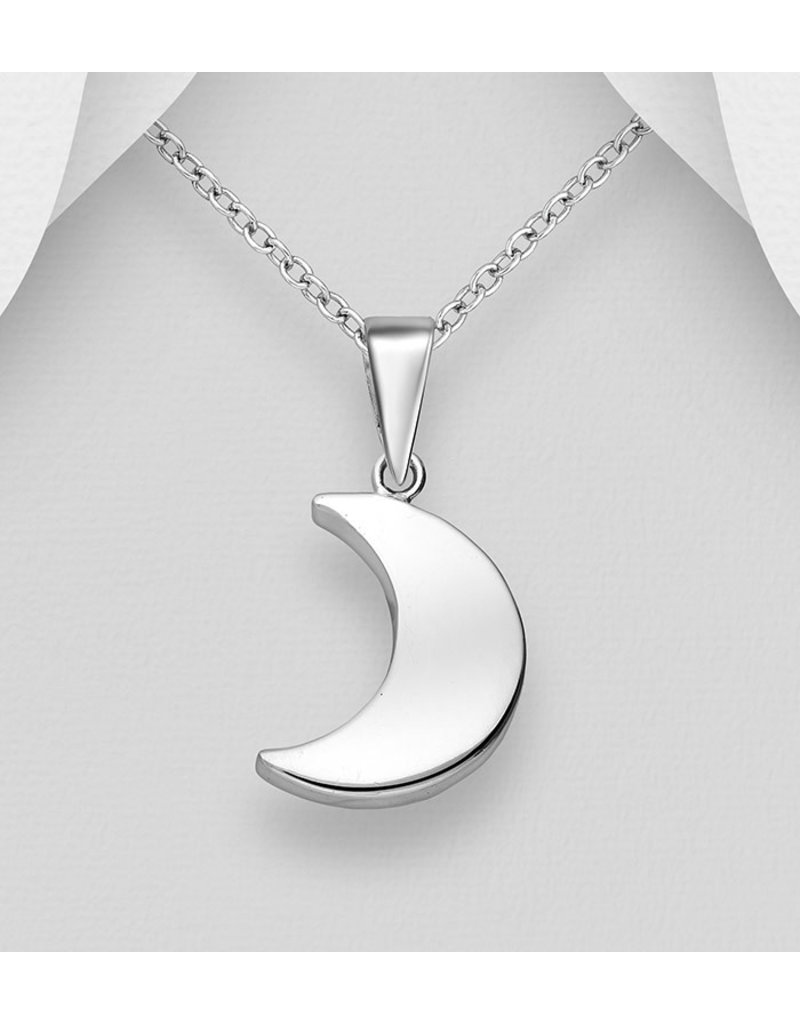 Sterling Sterling Silver Half Moon Necklace