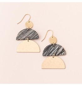 Scout Stone Half Moon Earring Picasso Jasper/Gold