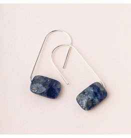 Scout Lapis/Silver Floating Stone Earring