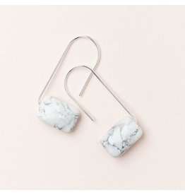 Scout Howlite/Silver Floating Stone Earring