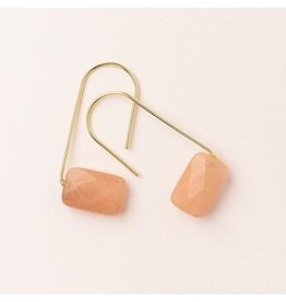 Scout Sunstone/Gold Floating Stone Earring