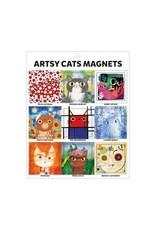 Galison Artsy Cat Magnets