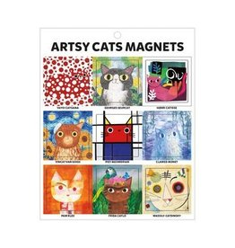 Galison Artsy Cat Magnets