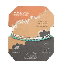 Scout Delicate Stone Necklace/Bracelet -turquoise/silver