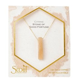 Scout Stone Point Necklace Citrine/Gold
