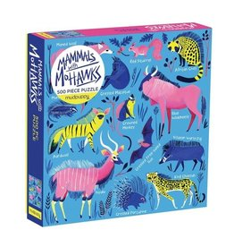 Galison Puzzle- Mammals WIith Mohawks