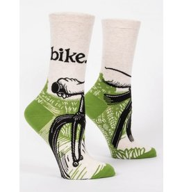 Blue Q Crew Socks- Bike Path