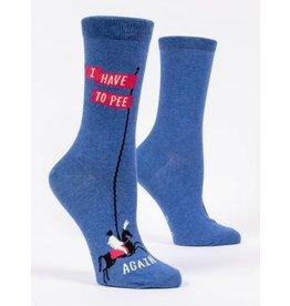 Blue Q Crew Socks- Pee