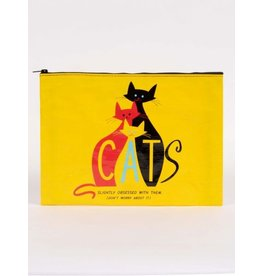 Blue Q Jumbo Pouch- Cats