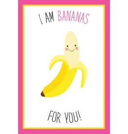 Bananas For You Valentine Card