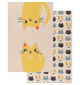 Danica Imports Set 2 Tea Towels-Meow Meow