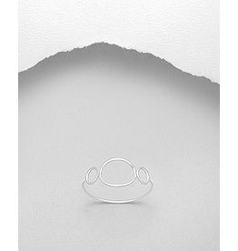 Sterling Sterling Silver Circle Ring
