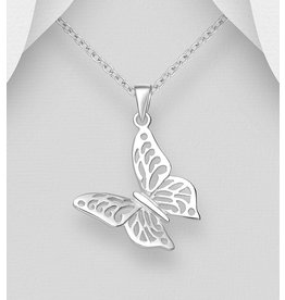 Sterling Sterling Necklace-Butterfly