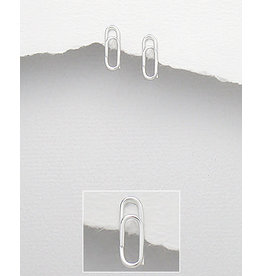 Sterling Studs-Sterling Paper Clip