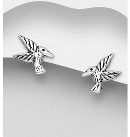 Sterling Studs-Sterling Hummingbirds