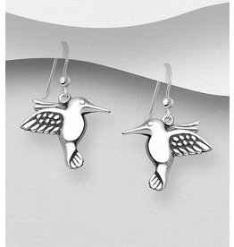 Sterling Sterling Silver Drop Hummingbirds