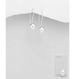 Sterling Sterling Silver Ball Hook Earrings